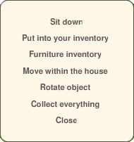 move furniture mini menu