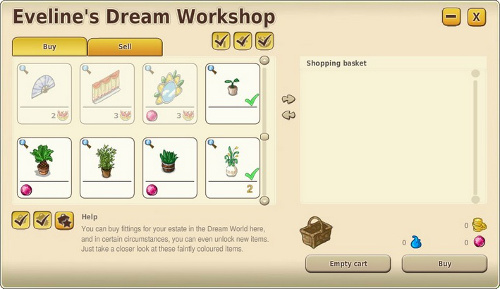 dream workshop menu